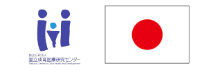 Flag of Japan and institutional logo